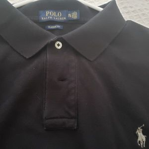 Mens Gray Short Sleeve Polo worn ONCE